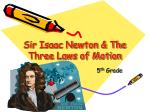 Sir Isaac Newton & The Three Laws of Motion