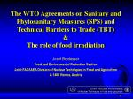World trade of agricultural products