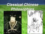 Classical Chinese Philosophies