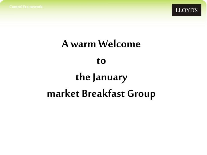 a warm welcome to the january market breakfast group n.