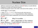 Nuclear Size
