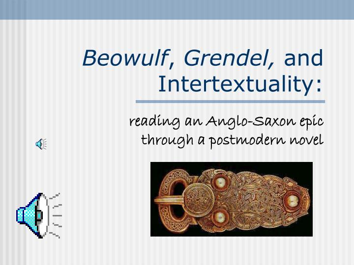 beowulf grendel and intertextuality n.