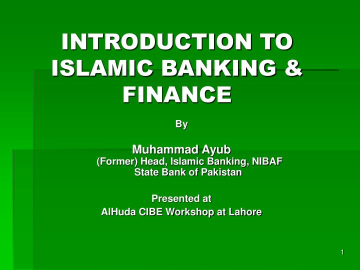 introduction to islamic banking finance n.
