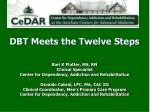 DBT Meets the Twelve Steps