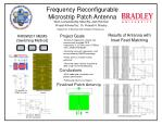 Frequency Reconfigurable Microstrip Patch Antenna