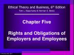 Chapter Five Rights and Obligations of Employers and Employees