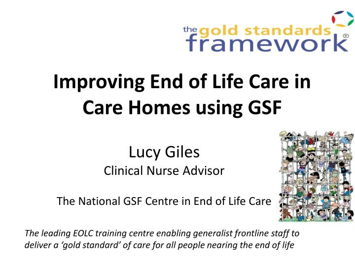 improving end of life care in care homes using gsf n.