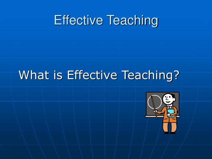 what is effective teaching n.