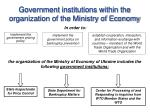 Government institutions within the organization of the Ministry of Economy