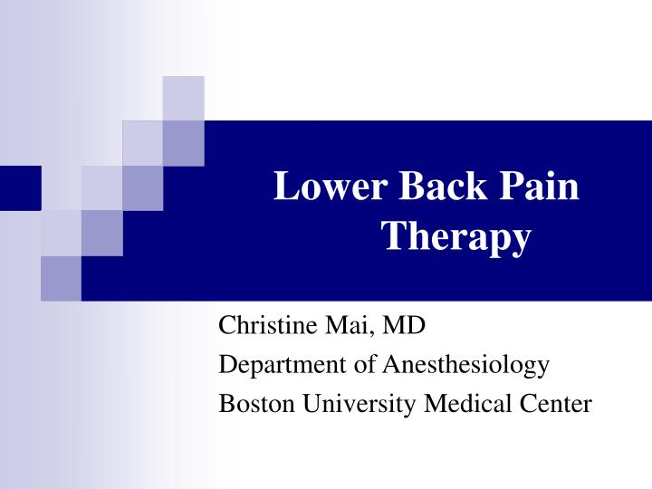 lower back pain therapy n.