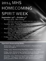 2014 MHS HOMECOMING SPIRIT WEEK