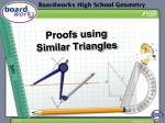 Proofs using Similar Triangles