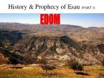 History & Prophecy of Esau (PART 1)