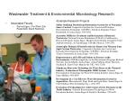 Wastewater Treatment & Environmental Microbiology Research
