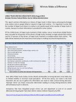 LARGE TRUCK AND BUS CRASH FACTS  2010; August  2012