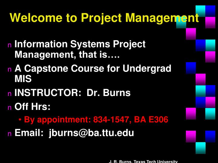 welcome to project management n.