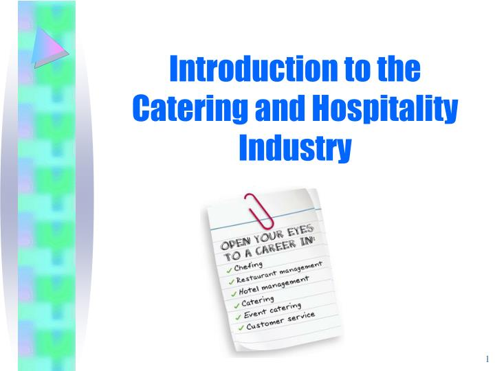 introduction to the catering and hospitality industry n.