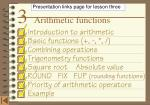 3    Arithmetic functions