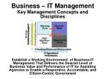 Business – IT Management