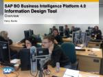 SAP BO Business Intelligence Platform 4.0  Information Design Tool Overview