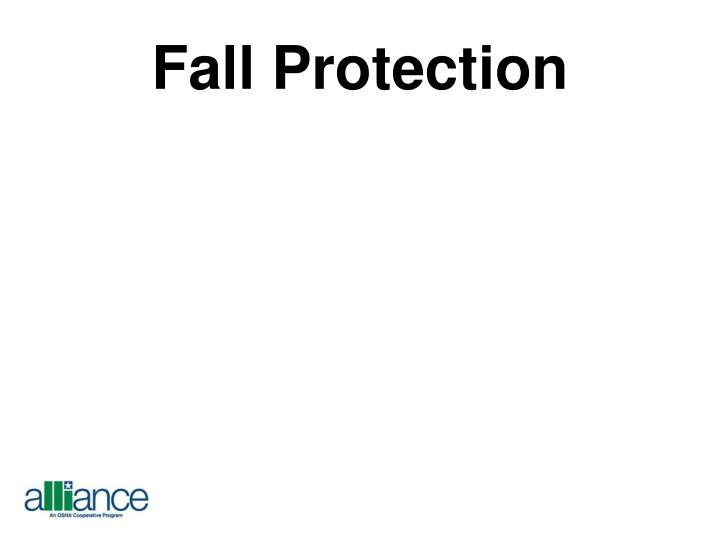 fall protection n.