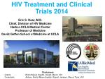 HIV Treatment and Clinical Trials 2014