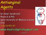 Antianginal Agents