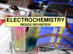 ELECTROCHEMISTRY REDOX REVISITED!
