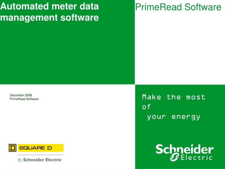 automated meter data management software n.