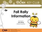 Fall Rally Information