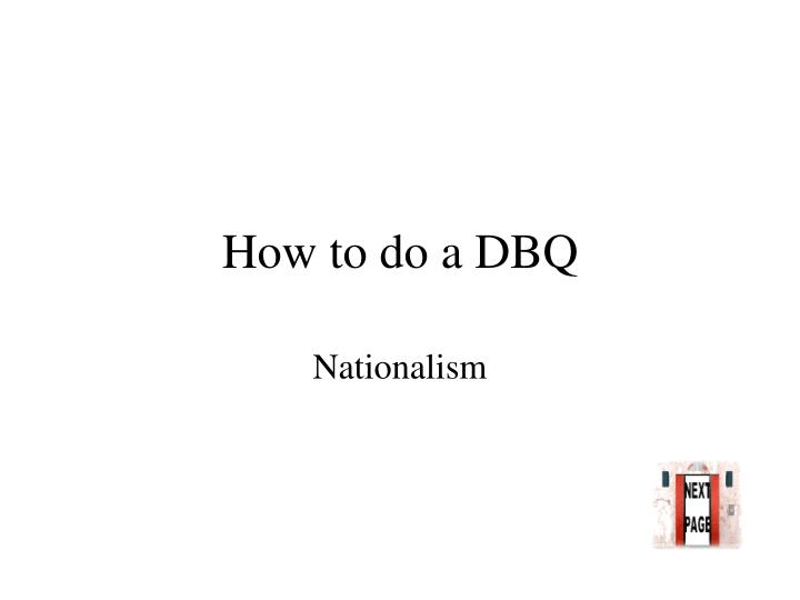 how to do a dbq n.