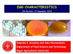 EGG CHARACTERISTICS 4th Revisi on , 1 2 Nop ember 20 10