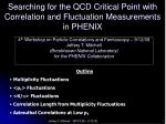 Searching for the QCD Critical Point with Correlation and Fluctuation Measurements in PHENIX