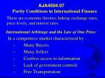 AJA4604.07 Parity Conditions in International Finance