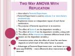 Two Way ANOVA With Replication