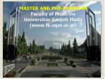 MASTER AND PHD PROGRAM Faculty of Medicine Universitas Gadjah Mada (fk.ugm.ac.id)