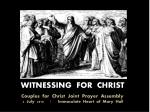 WITNESSING  FOR  CHRIST