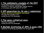 1.The emblematic example of the EOT -extraordinary optical transmission (EOT)
