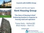 Kent Housing Group 'The Voice of Housing in Kent'