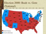 Election 2000: Bush vs. Gore (National)