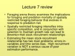 Lecture 7 review