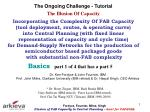 The Ongoing Challenge - Tutorial The Illusion Of Capacity