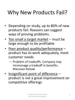 Why New Products Fail?