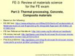 FE-3: Review of materials science  for the FE exam