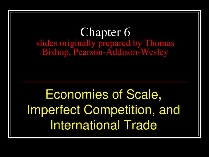 chapter 6 slides originally prepared by thomas bishop pearson addison wesley n.