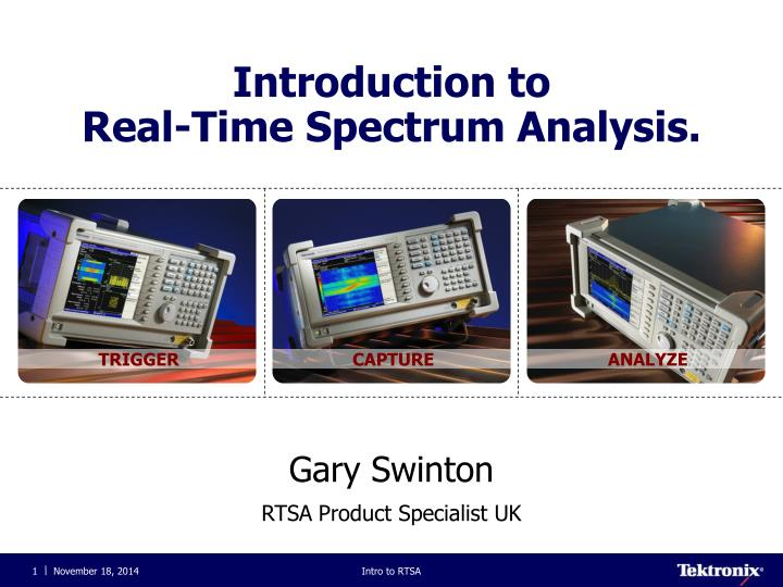 introduction to real time spectrum analysis n.