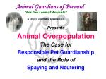 "Animal Guardians of Brevard ""For the Love of Animals"" A 501(c)3 charitable organization"