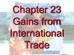 Chapter 23 Gains from International Trade