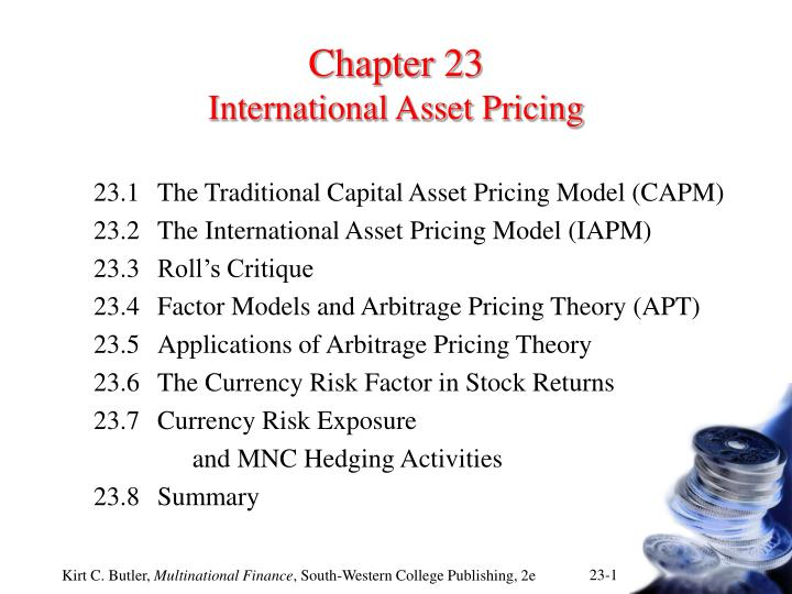 chapter 23 international asset pricing n.