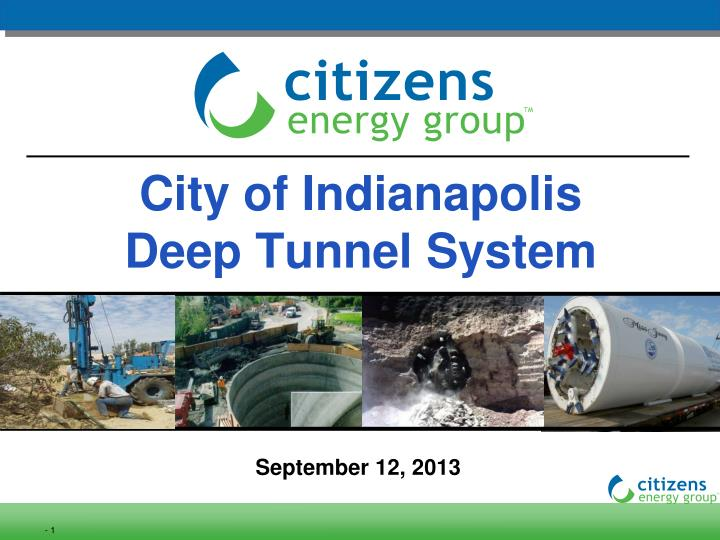 city of indianapolis deep tunnel system n.